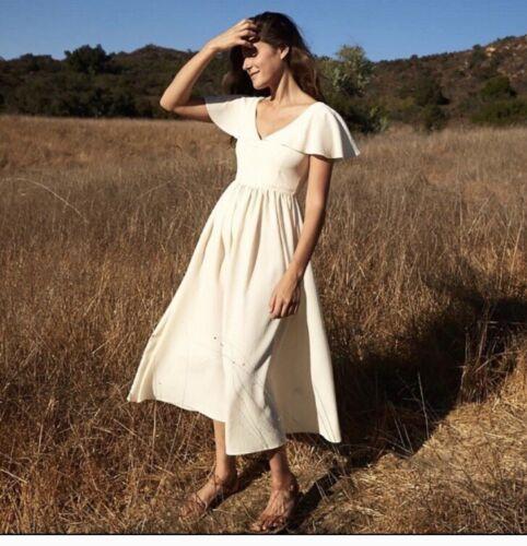Christy Dawn Monarch Dress In Textured Buttercream