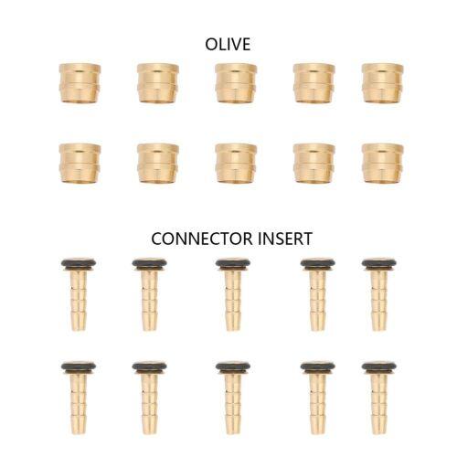 10 Sets Hydraulic Disc Brake Hose Olive Connector Insert for AVID SRAM GD