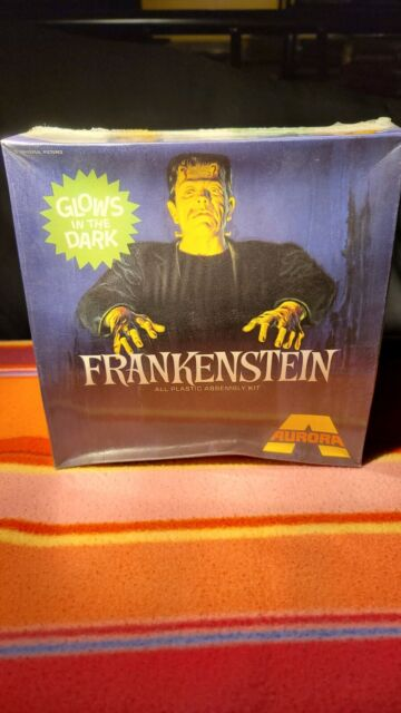 Vintage Aurora monster model kits MISB Frankenstein Glows In The Dark model kit