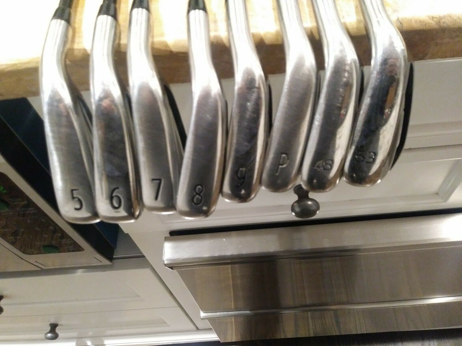 Nice right Titleist 718 AP1 iron set. 5-53(8 clubs). Senior Graphite. A Flex