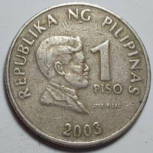2003 Philippines-1 Piso-JOSE RIZAL-REPUBLIKA NG PILIPINAS-NON-MAGNETIC