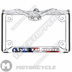 image is loading chrome 3d american eagle top motorcycle license plate - Eagle License Plate Frame