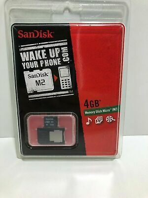 4 GB MS Micro m2 ADATTATORE SANDISK USATO 4gb Memory Stick Micro m2