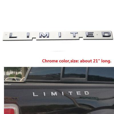 1x OEM LIMITED Chrome Emblem Side Badge 3D logo decal for Ford Gloosy Finish F