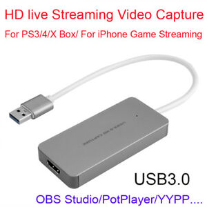 Hdmi To Usb 3 0 Game Video Streaming Capture Recorder Box For Iphone