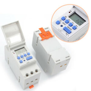 THC15A-AC-220V-240V-Guideway-Time-Switch-Timer-Digital-LCD-DIN-Programmable-MA