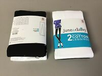 Women's 2 June & Daisy Cotton Leggings Size Small Black/white 553g