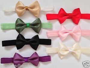 Double-Face-Satin-Single-Bow-Headband-Baby-Girl-Headbands-Toddler-Girls-Lot