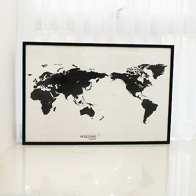 Free Shipping Unique Design Black and White World Map Poster Simple is the Best