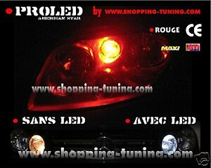 2-VEILLEUSES-LED-W5W-ROUGE-PORSCHE-CAYENNE-BOXTER