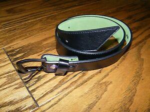 Armourdillo-Black-Leather-Men-039-s-Leather-Belt-NWT-Size-M-30-31-32-33-34-Skater