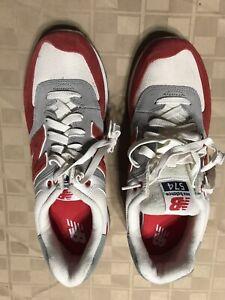 38c57db94250e SAMPLE New Balance ML574RSB Men's Running Shoe Suede Mesh Red Gray ...