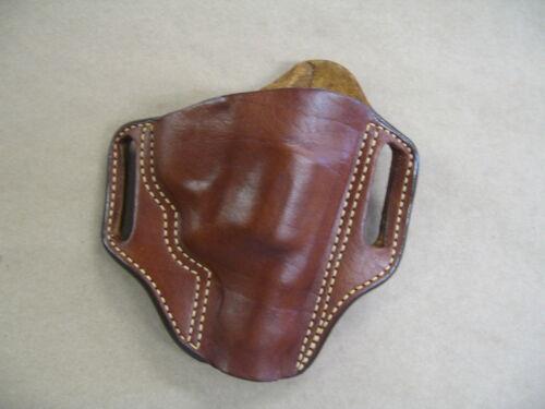 Taurus 85 605 805 Revolver Leather 2 Slot Pancake Belt Holster CCW TAN RH