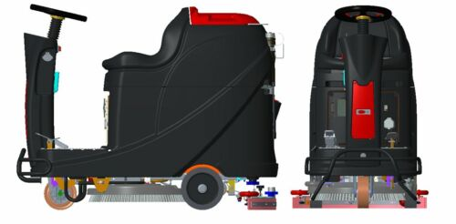 Nilfisk Viper as530r aufsitz-scheuersaugmaschine máquina de limpieza 530 mm 72 L