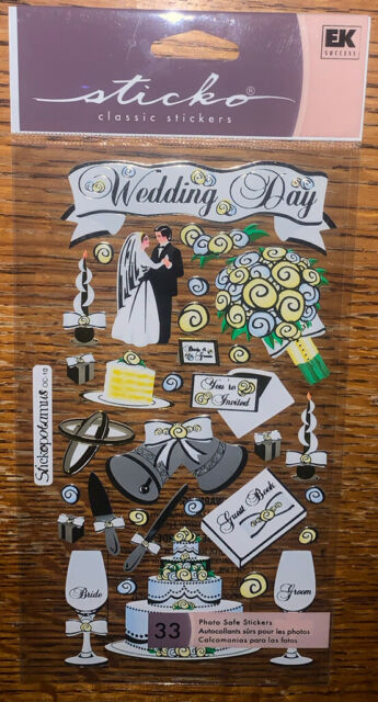EK SUCCESS JOLEE/'S BOUTIQUE 3-D STICKERS MARRIAGE BRIDE /& GROOM WEDDING MR /& MRS