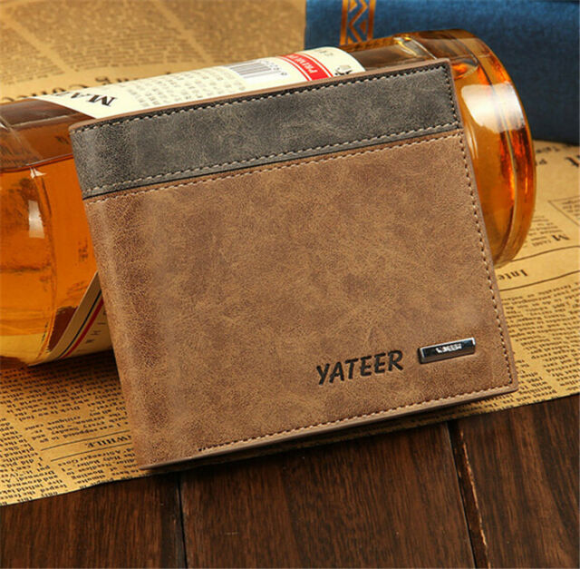 Fashion Men's Leather Bifold Wallet ID Credit Card Holder Clutch Pockets Purse