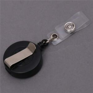 Retractable-Reel-ID-Badge-Lanyard-Name-Tag-Key-Card-Holder-Belt-Clip-MA