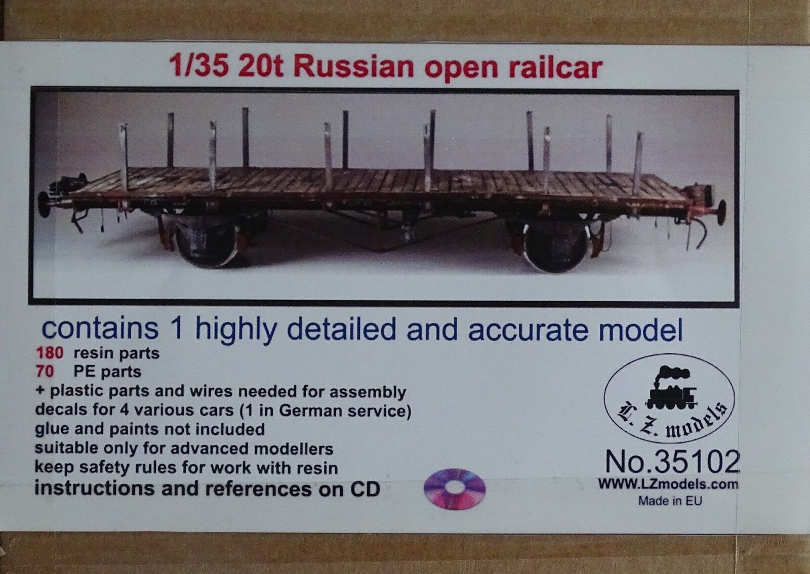 LZ MODELS 35102 20t Russian Open Waggon in 1 35  | Angenehmes Aussehen