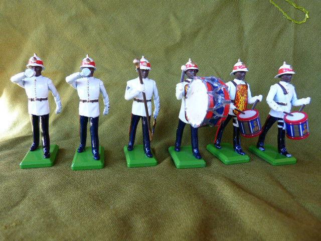 BRITAINS - 6 soldats de l'armée coloniale britannique (Caraïbes).