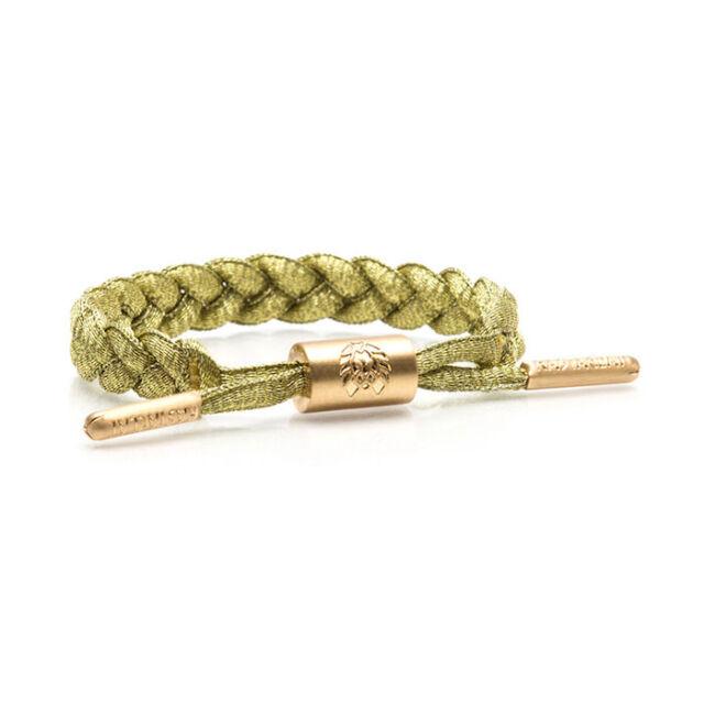 Rastaclat Miniclat Zion White Gold Youth Girls Shoelace Bracelet RCW001WHT