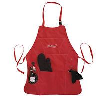 Budweiser Apron Grill Master Kit Bottle Opener Towel Glove Koozie Pocket