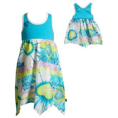 Dollie /& Me Girl 4-14 and Doll Matching Floral Tunic Shorts Outfit American Girl