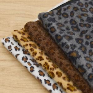 Kunstfell Stoffe Leopard Muster Dekostoff DIY Basteln ...