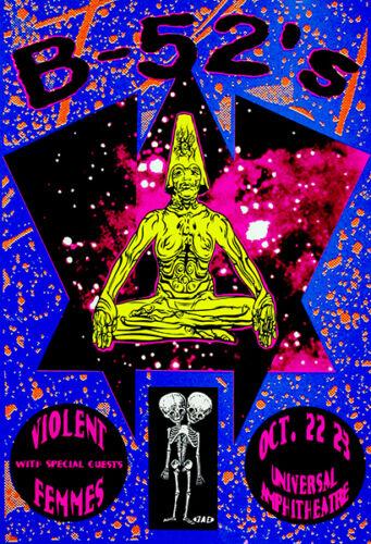 The B-52/'s The Violent Femmes 1992 Concert Poster