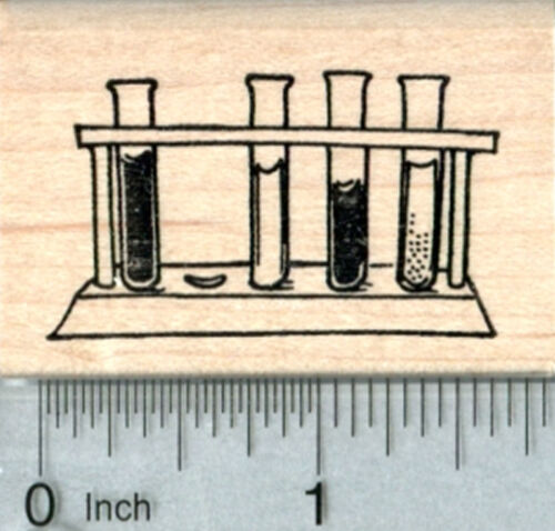 Test Tube Rack Rubber Stamp Science Series E34004 WM