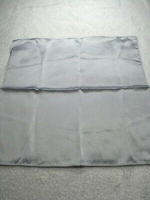 Collezione Qui Stacy Adams Uomo Tasca Quadrato 13 X 13 Cm Massiccio Grigio Argento Nwot