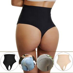 dbd0bb82c Image is loading Compression-Women-Shapewear-Panties-High-Waist-Thong-Tummy-