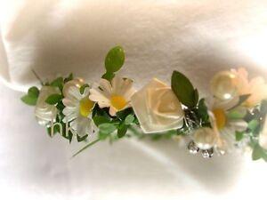 Kopfschmuck Haarschmuck Haarkranz Ganseblumchen Blumenkinder