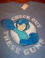 Vintage Style Megaman Check Out These Guns Nes Nintendo T-shirt Small W/ Tag