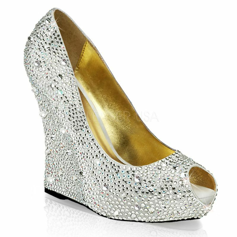 Plateau Peeptoes ISABELLE-18 ISABELLE-18 Silber Fabulicious Plateau Peeptoes ISABELLE-18 ISABELLE-18 ... abd2b5