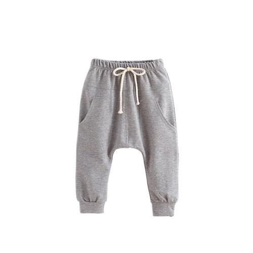 Baby Boys Harem Pants Kids Girls Cotton Hip hop Pants Solid Children Bottoms