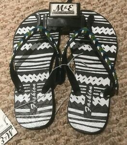 M-amp-E-Fashion-Flip-Flops-Kids-Size-Small-For-Summer-Foot-Bed-is-9-Long-Size-5-6