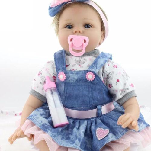 HYM 22'' Realistic Reborn Baby Doll Silicone Vinyl Handmade Newborn Girl Dolls