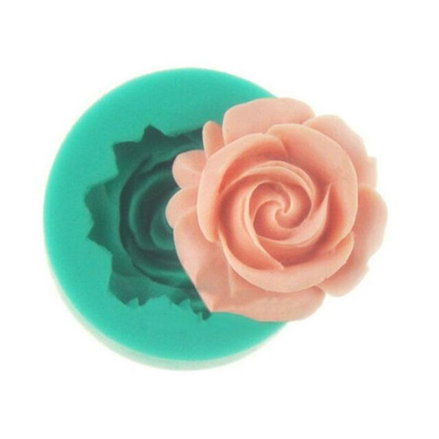 New DIY Kitchen Sugar Cake Chocolate Muffin Bakeware Rose Flower Model Mould