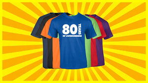 Image Is Loading 80th Birthday Shirt Happy Gift Customized T
