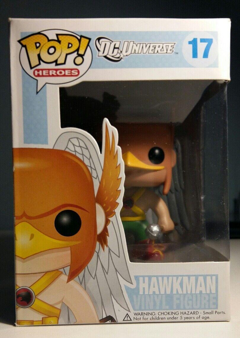 Funko Pop  Hawkman DC Universe 17 Retirot Vinyl Figure + Protector Minor Damage