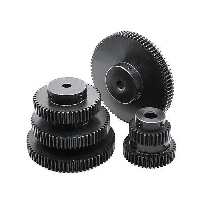 1.5Mod 16T Metal Spur Gear With Step 45# Steel Motor Gear 1.5M16T Bore 8mm Bore:8mm