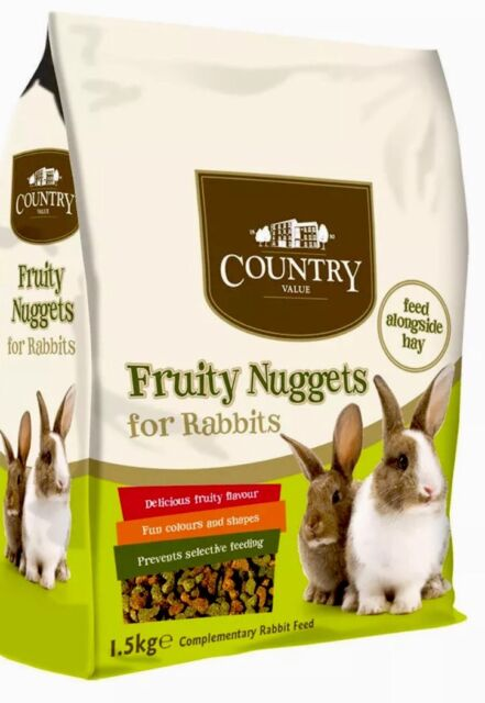 Country Value Fruity Nuggets For Rabbits 1.5kg Complete Food