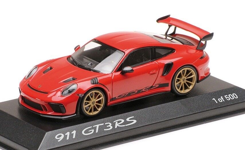 Porsche 911 GT3 RS INDISCH RED 2018 1 43 Limited 500 PC Minichamps Spark NEW