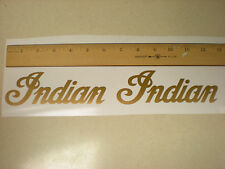 Indian Motorcycle Chief, GOLD Logo Tank, Helmet Decal, Set of 2