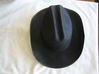 Western Sheriff Black Felt Cowboy Hat Costume Party Accessory Sz Medium Lightwt