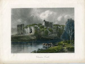 Gales-Chepstow-Castle-Engraving-By-R-Hinshelwood-1870
