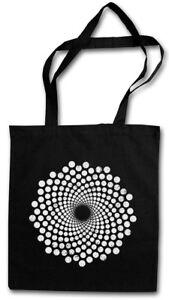 SPIRAL DOTS STOFFTASCHE Hypno Labyrinth Mystic Hypnose Kreisel Spirale