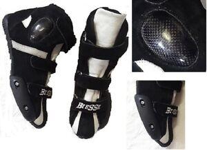 Stivaletti-Scarpe-Moto-in-Pelle-Con-Protezioni-Bambini-Adulto-Slider-Cambiabili