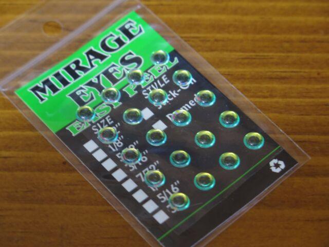 "Fly Tying 20 pkg Wapsi Hologram Dome Eyes 1//4/"" Mirage"