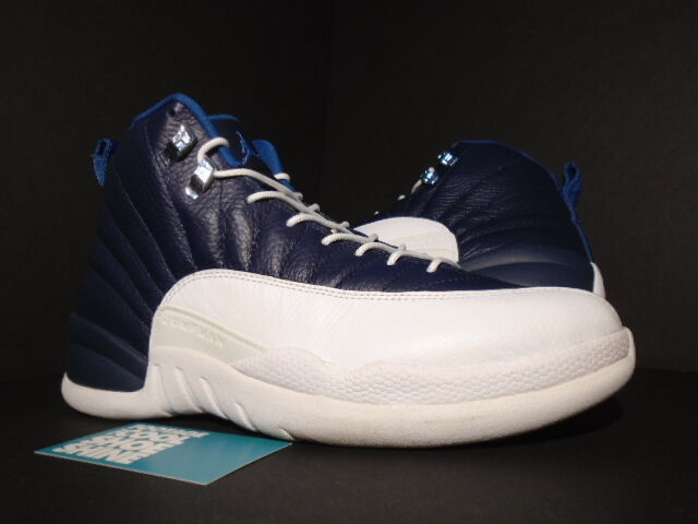 2012 Nike Air Jordan XII 12 Retro OBSIDIAN NAVY FRENCH BLUE WHITE 130690-410 8.5